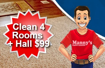 Mannys Carpet Cleaning Special